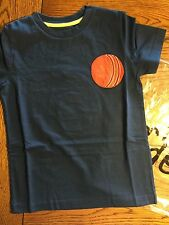 *NIP MINI BODEN* Boys Cadet Blue Baseball Ball Games T- Shirt NEW Size 9-10Y