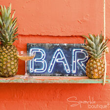 LIGHT Up Bar sign-Matrimonio/Party Decorazione-Neon Stile LED blu-Alimentato a Batteria