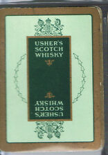 Playing Swap Cards 1 VINT WIDE BRITISH USHER'S  SCOTCH WHISKY ADVT D56