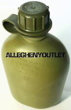 USGI US Army Military 1 QUART RIGID HARD PLASTIC 1QT CANTEEN OD VGC w/ NEW CAP