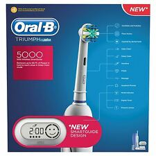 Oral-B Triumph 5000 Electric rechargeable toothbrush powered by Braun