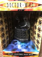 "DOCTOR WHO DIECAST METAL COLLECTABLE 5"" BLACK DALEK  (NEW) RARE"