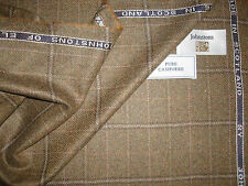 100%PURE CASHMERE JACKETING FABRIC MADE IN SCOTLAND By JOHNSTONS OF ELGIN 2.05 m