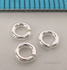 20x BRIGHT STERLING SILVER OPEN ROUND JUMP RING 4mm 18GA 1mm N792