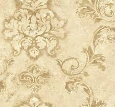 Wallpaper Designer Traditional Formal French Style Large Cream Damask