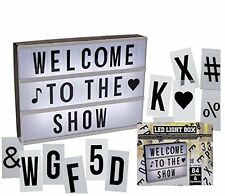LED CINEMATIC LIGHT UP BOX WITH 84 LETTERS & SYMBOLS MESSAGE SIGN BOARD