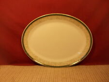 "Steelite International China England Small Oval Platter 11"" Green Speckled Edge"