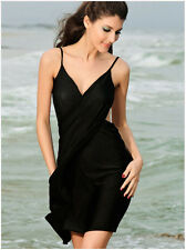 Black Women Magic Bath Towel Sexy Soft Sling Beach Skirt Dress Bikini Cover Up