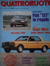 Quattroruote 258 1977 - Test Alfetta 2000 cc - Test Austin Allegro 1100c   [Q33]