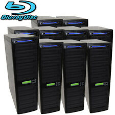 100 SATA Blu-ray CD DVD Disc Burner Daisy Chain Duplicator Multiple Tower Copier