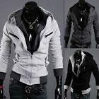 Mens Slim Fit Sexy Top Designed Hoodies Jackets Coats full zip Hooded Sweatshirt