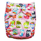 1 New Alva Reusable Lot Baby Washable Cloth Diaper Nappy +1 Insert Pink Owly N16