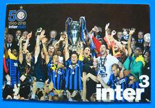 CARTOLINA UFFICIALE CALCIO 50° INTER CLUB 1960-2010 - cm.10x15