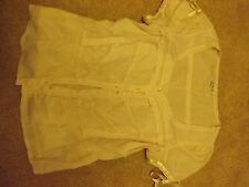 Ivory/ Cream blouse with ribbon detail. Gothic & Lolita/ Neo Victorian UK12