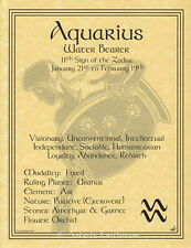 AQUARIUS POSTER A4 SIZE Wicca Pagan Witch Witch Goth BOOK OF SHADOWS