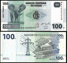CONGO DEMOCRATIC REPUBLIC 100 Francs 2007 UNC P 98