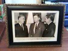 JOHN F KENNEDY WITH GENERAL JAMES VAN FLEET ASSOCIATED PRESS WIRE PHOTO DEC.1961