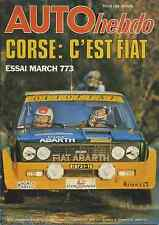 AUTO HEBDO n°88 du 10 Novembre 1977 GUY LIGIER TOUR DE CORSE  F3 MARCH 773