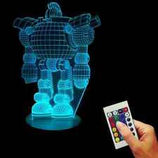3D Handmade Effect Robot Pattern USB Multicolors Lamp LED Kids Room Night Light