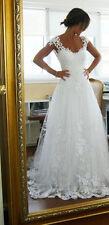 2016 Weiß/Elfenbein Brautkleid Hochzeitskleid Ballkleid Gr:34/36/38/40/42/44++,,