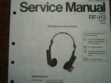 NATIONAL PANASONIC RF-H3 Headphone Radio Service manual wiring parts diagram