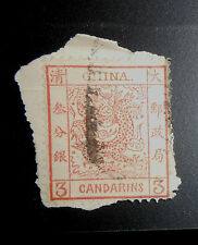 China stamp #2 large dragon used on piece CIIINA error