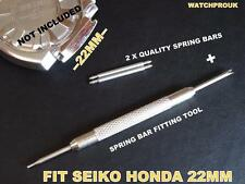 QUALITY SPRING BAR SET + TOOL TO FIT SEIKO SPORTURA HONDA RACING F1