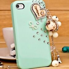 Kolorfish Designer Elegant Diamond Charms Back Case For iPhone 4 4S--Green