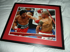 Manny Pacquiao Autographed 26x22 Auto'd Signed Boxing Framed Photo Psa Dna