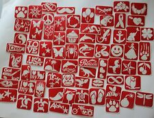 85 piece -  Sample Pack of Glitter Tattoo Stencils