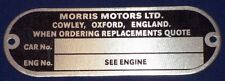 CLASSIC MINI MORRIS CHASSIS PLATE 1959-72 COOPER S DELUXE BMC LEYLAND 3T2