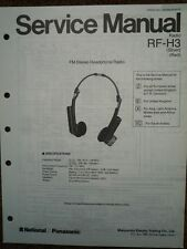 National Panasonic rf-h3 Cuffie Radio Service Manual Wiring diagramma delle parti