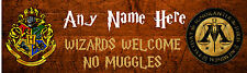 HARRY POTTER Bedroom Door Sign, PERSONALISED Gift, Childrens Play Room, Hogwarts