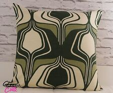 Cushion Cover Authentic Vintage Fabric 50x50cm 50s 60s Retro Abstract Green
