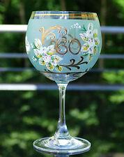 """Böhmisches Kristall Weingläser """" Zum 60ten """" Blumen Emaillemalerei !!!"""