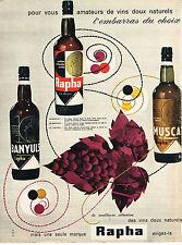 PUBLICITE  1960   RAPHA     apéritifs au choix