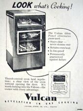 1940s 'VULCAN' Gas Cookers Original Advert - Small Print Ad Vintage