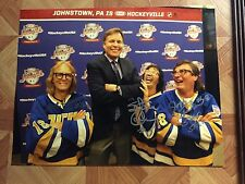 Hanson Brothers Autographed 11x14 Photo Slap Shot Movie Hockey Hockeyville