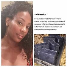 3 BARS of Homemade Organic Acne and Blemish Activated Charcoal and Tea Tree Soap