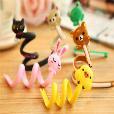 FD2395 Cartoon Earphone Headphone Cable Cord Organize Wrap Wind~Black Cat~1pc  A