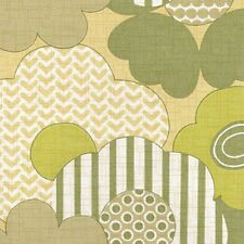 1970s FABULOUS FLORAL Vintage Original Wallpaper Greens +