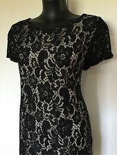 Size 18 Smart Flattering Black Lace Cocktail Dress