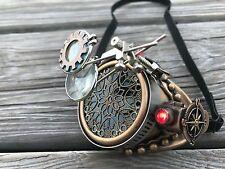 Steampunk Goggles Monocle Miner L with Flashlight