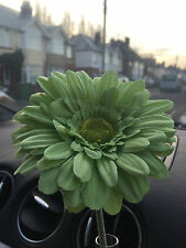 VW GERBERA 13cm GREEN  FLOWER  VW BEETLE  DASH BOARD BUD FLOWER UNIVERSAL