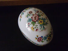 Coalport Ming Rose Large China Egg Trinket Box