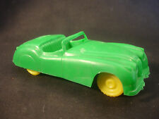 Old Collectible Plastic Jaguar W/Yellow Wheels Toy Car Made In England