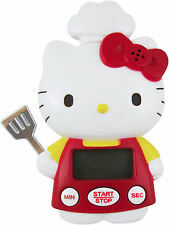 New Sanrio HELLO KITTY LCD Digital Timer Count Up Down Kitchen Cooking Timer red