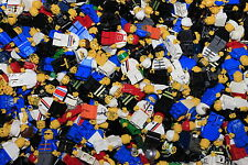 Lego 50 Random Minifigures Figures City Police Fire Town Space Farmer Builder