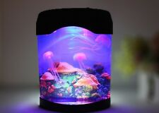 Home Decor Colorful LED Jellyfish Tank Sea World Swimming Mood Lamp Nightlight