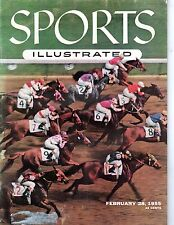 1955 2/28 Sports Illustrated magazine,Horse Racing, Swaps, Santa Anita Derby~GLR